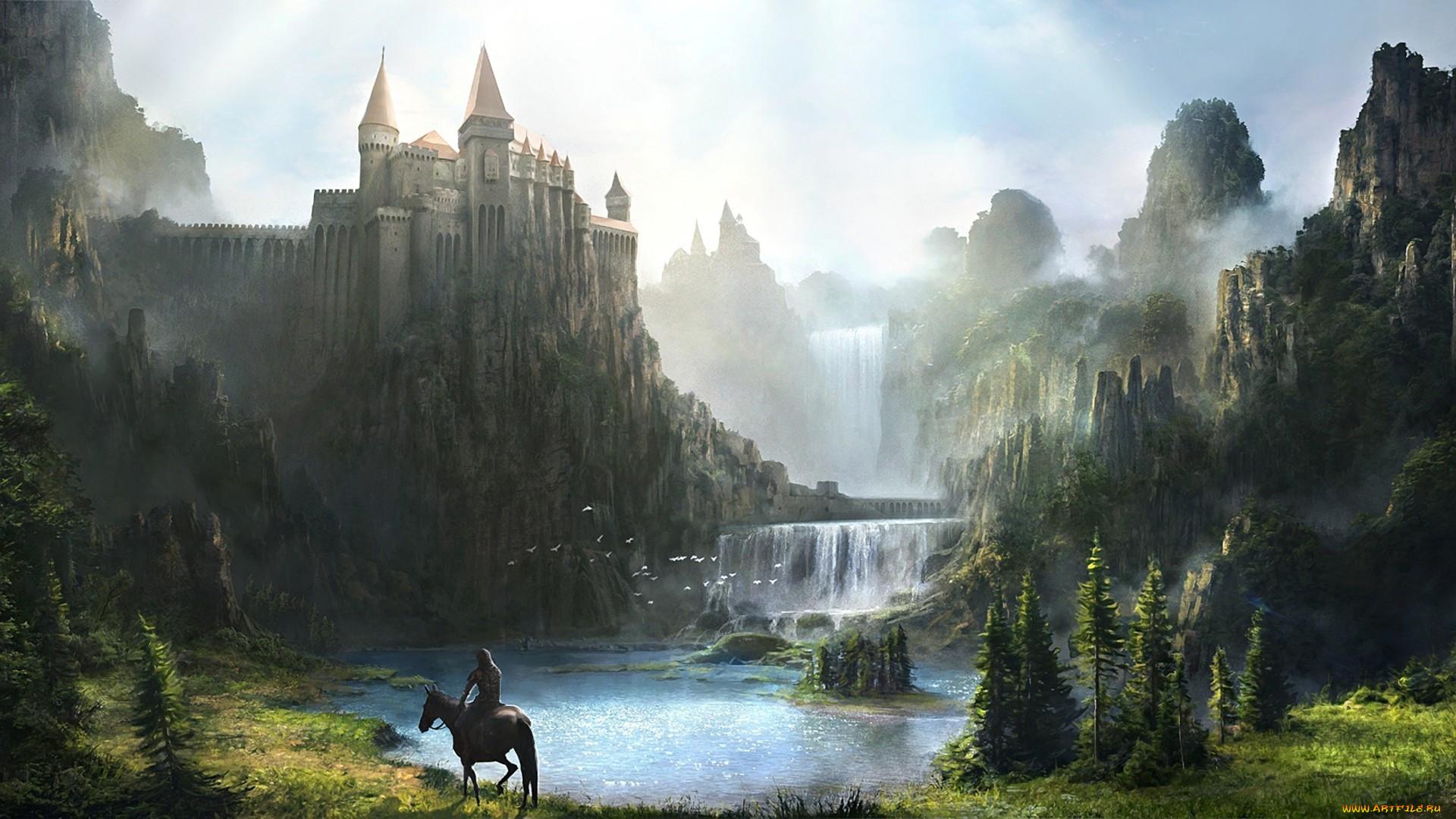 Картинки красивые замки фэнтези